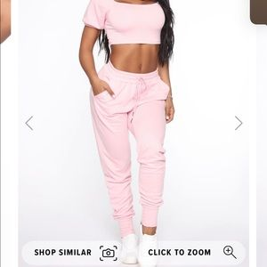 Girly feels fresh terry active set-fashion nova